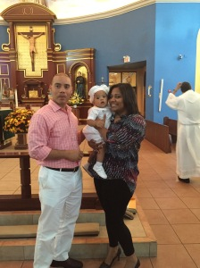 With his Godparents.